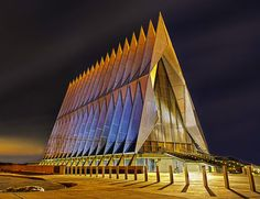 United States Air Force Academy cadet chapel #photography #USA