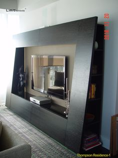 The Dana TV cabinet contains four storage compartments: Two hinged cabinets at the top and two drawers at the bottom both using high quality Hettich mechanisms. An added feature is the bookshelves at both ends of the cabinet. The back panel is covered with Micro-fiber skin and surrounded by soft LED lights to protect your vision while watching TV. The unit is set on casters for easy moving. Clean architectural lines, simple design and beautiful finishes are captured in this essential design.