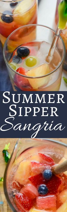 I'll show you step by step how to make sangria, with leftover fruit salad, rum and white wine. Summer Sipper Sangria is the best excuse for a party!