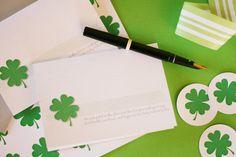 Shamrock Notecards: Free Printable