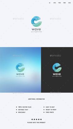 "Check out my @Behance project: ""Water/Wave Logo Template"" https://www.behance.net/gallery/49863997/WaterWave-Logo-Template"