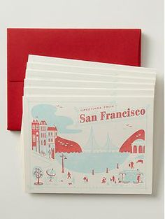 Hello! Lucky boxed set of San Francisco note cards from local store sold through banana republic for $16.00