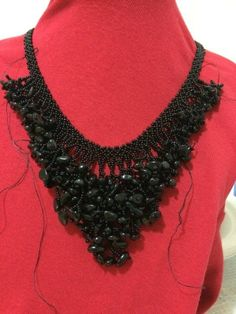 Beaded necklace Not finished yet.
