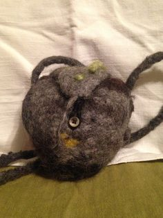Felted stone bag by faglar on Etsy