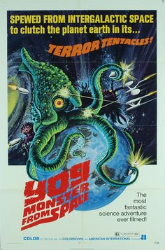 Yog. Monster from Space. One sheet poster. Best Movie Posters, Classic Movie Posters, Movie Poster Art, Classic Sci Fi Movies, Sci Fi Horror Movies, Sf Movies, Fiction Movies, Comedy Movies, Science Fiction