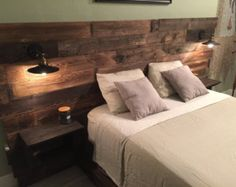 Rustic Headboard Reclaimed Headboard Nightstand By CECustoms