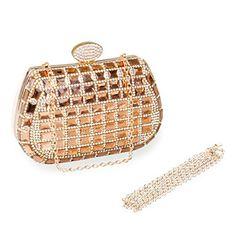 Women's Styles Evening Bags ECOSUSI Womens Dazzling Rhinestone Clutch Evening Bags Fashi...