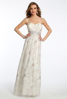 Feather Print Ballgown from Camille La Vie and Group USA