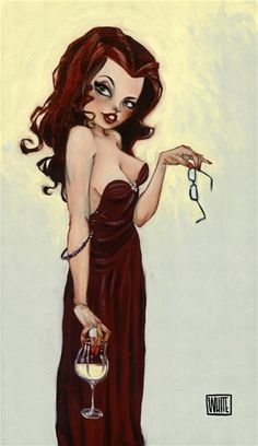 """Wine Art - """"Craving for you"""" by Todd White #women&wine #cBrowns #cCreams"""