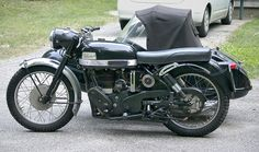 Velocette MSS with sidecar