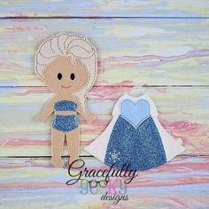 Abigail Dress up Outfit (OUTFIT ONLY)- to fit GGD Dress up dolls - Embroidery Design 5x7 hoop or larger