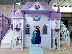 Espectacular castillo de Frozen (de camas y literas infantiles kids world)