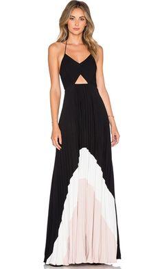 Positano Coast Black White Pink Spaghetti Strap V Neck Cut Out Backless Halter Tie Dye Maxi Dress