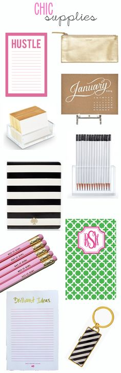 Chic Supplies - for back to school or glamming up your desk - TheSubtleStatement.com