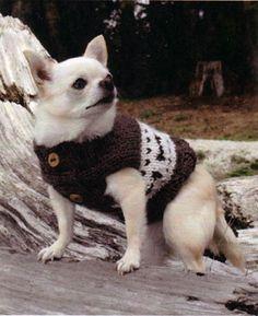 Bone Design Wilderness Dog Sweater Vest knitting pattern.