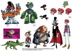 Teen Titans villain designs