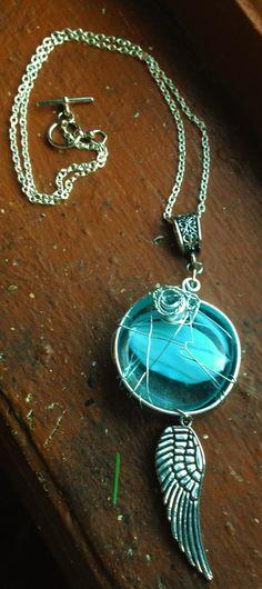 The Heart of Castiel Angel Wing Necklace by Eldwenne on Etsy, $30.00