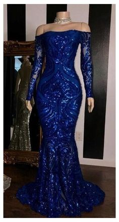 Black Girl Prom Dresses, Blue Mermaid Prom Dress, Senior Prom Dresses, African Prom Dresses, Royal Blue Prom Dresses, Cute Prom Dresses, Prom Dresses Long With Sleeves, Prom Outfits, Mermaid Evening Gown