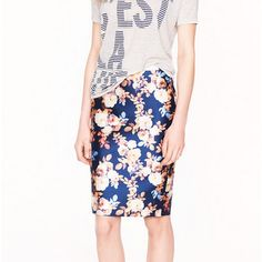 Rank & Style Top Ten Lists | J.Crew COLLECTION NO 2. PENCIL SKIRT IN ANTIQUE FLORAL #rankandstyle
