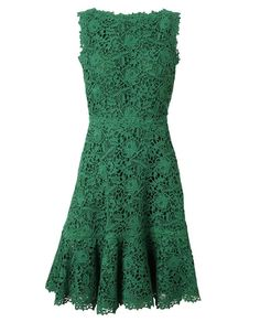 Browns fashion & designer clothes & clothing | VALENTINO | Macrame Lace and Silk Dress. Some day