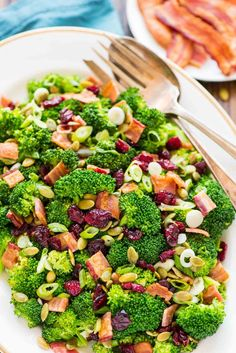Broccoli Cranberry Salad via @wellplated