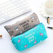 High-capacity Creative Cartoon Animal PU Pen Case Waterproof Pencil Bags School Office Supplies Pencil Cases Free Shipping(China (Mainland))