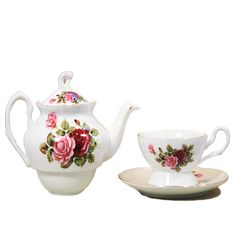 This lovely Victorian inspired pot, cup and saucer is perfect for indulging in your own personal tea service! Enjoy tea as it was meant to be drank:in style! Road To Avonlea, Tea For One, Anne Of Green Gables, Tea Service, Spring Sale, Loose Leaf Tea, Period Dramas, Teapots, Afternoon Tea