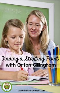 How To Find A Starting Point Using The Orton-Gillingham Approach - The Literacy Nest Teaching Strategies, Learning Resources, Dyslexia Teaching, Teaching Phonics, Reading Help, Reading Practice, Ipad, Gillingham, Reading Intervention