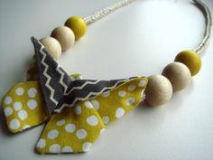 Handmade Yellow and Grey Origami Butterfly by ShopIndigoRocket