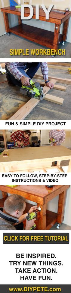 Build a simple workbench today, YOU can do it!