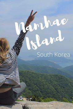 Camping on the beautiful Namhae Island, in South Korea