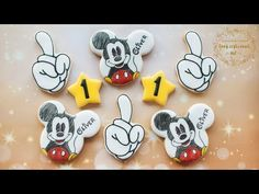 Mickey Mouse Birthday Cake, Mickey Mouse Cookies, Snoopy Birthday, Boy Birthday, Birthday Cakes, Minnie Mouse, Minecraft Cookies, Super Cookies, Cookie Videos