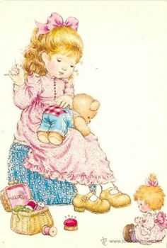 28 Ideas for sewing illustration sarah kay Holly Hobbie, Creative Pictures, Cute Pictures, Illustrations, Illustration Art, Sara Kay, Cute Dolls, Retro, Vintage Children