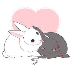 Read Mo dao zu shi bunny 3 from the story Imagenes Mo dao zu shi by with reads. Bunny Drawing, Bunny Art, Cute Bunny, Cute Animal Drawings, Kawaii Drawings, Cute Drawings, Kawaii Art, Kawaii Anime, Anime Chibi