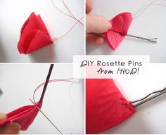 DIY Rosette Hair Pins {Guest Mom Anna} - Henry HappenedHenry Happened