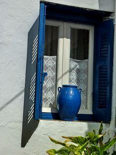 """Window and pot""  Kythnos Ιsland, Cyclades, Greece / by Marite2007, via Flickr"
