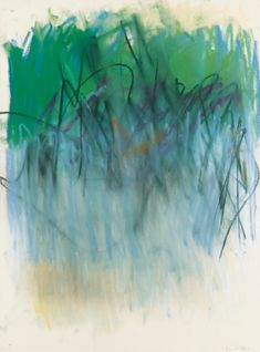 JOAN MITCHELL  1925-1992  SANS TITRE   SIGNED; PASTEL ON PAPER. EXECUTED IN 1979.   Estimate: 30,000 - 40,000 EUR   signé  pastel sur papier  77,5 x 57,5 cm; 30 1/2 x 22 5/8 in.  Exécuté en 1979.