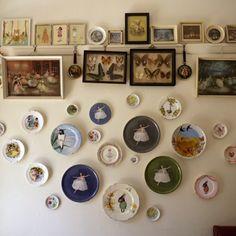 granny chic art display