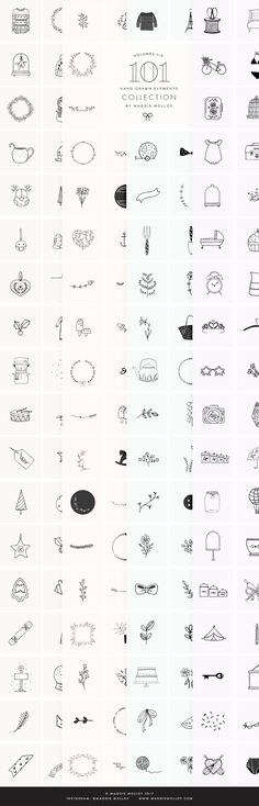 404 Hand Drawn Logo Elements EPS PSD by Maggie Molloy on @creativemarket