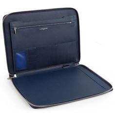 Blue laptop case for Men, Lancaster Paris. #bag #laptop #case #men #accessory #design #fashion #blue #itech #lancasterparis #lancaster #fathersday