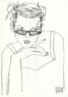 mmmmmnope fashion girl sketch portrait jonny ruzzo graphite drawing illustration graphite