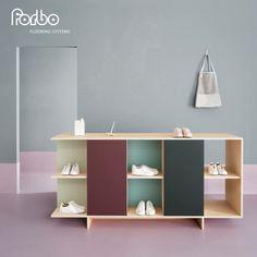 Voor Forbo Flooring Systems maakten we leuke meubels! Ontwerp door TEEP. Fabricage door Justus & Tjebbo Interieur | www.justusentjebbo.nl