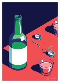 Soju, Coen Pohl illustration.