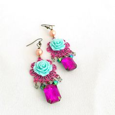 Hey, I found this really awesome Etsy listing at https://www.etsy.com/au/listing/465542501/rose-chandelier-earrings-gypsy