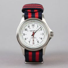 (77) Fancy - Carhartt Brushed Steel Military Watch