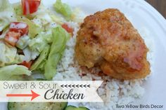 Growing up my Mom made the BEST Sweet & Sour Chicken from the Lion House Cook Book. If any of you are familiar with the Lion House they hav. Sweet Sour Chicken, Asian, Dinner Recipes, Dinner Ideas, Yummy Food, Yellow Birds, Cooking, 2013, Food Ideas