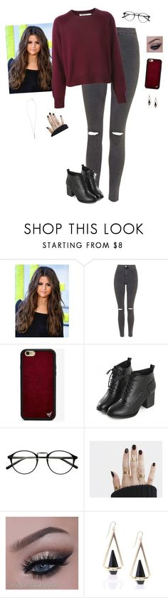 """""""Starbucks Break"""" by hanakdudley ❤ liked on Polyvore featuring Topshop, Wildflower and French Connection"""