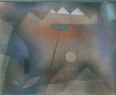 Paul Klee,   Bird Wandering Off, 1921 on ArtStack #paul-klee #art