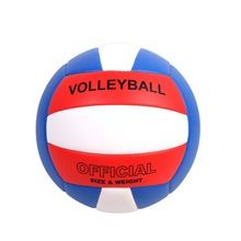 Yanyodo Official Size 5 Volleyball Soft Indoor Outdoor Volleyball For Game Gym Training Beach Play Red White Blue In 2020 Beach Play Gym Training Volleyball