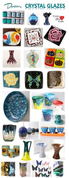 Country Love Crafts - Crystal Glazes Ceramic Pottery Supplies.